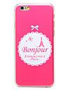 Bonjour Paris башня шаблон прозрачный шт задняя крышка для iphone 6 плюс