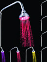 A Grade ABS Chrome  Color Changing LED Shower Head Rain Shower