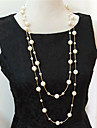 Women\'s Strands Necklaces Layered Necklaces Pearl Necklace Pearl Imitation Pearl Multi Layer Costume Jewelry Jewelry For Wedding Party