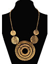 Women\'s Statement Necklace Long Necklace Statement Ladies European Fashion Gold Screen Color Necklace Jewelry For