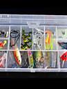 """45 штук Рыболовная приманка Воблер прогонистой формы г / Унция, 100 мм / 1"""" дюймовый, Жесткие пластиковые Морское рыболовство Ловля на"""