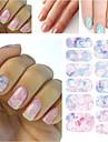 Панк - 3D наклейки на ногти / Стразы для ногтей - Пальцы рук - 145*75mm - 1pcs - ПВХ