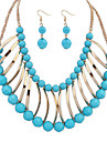 Women\'s Jewelry Set - Resin Bohemian, Fashion, Euramerican Include Necklace / Earrings White / Black / Blue For Wedding Party Anniversary