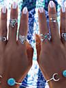 Femme Europeen bijoux de fantaisie Turquoise Alliage Forme d\'Animal Elephant Bijoux Pour Soiree Quotidien