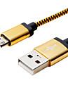 삼성 휴대 전화에 대한 100 만 3.28ft 알루미늄 + PVC USB2.0 데이터 케이블