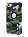 Camouflage patterns High Quality Snap-on PC + Silicone Hybrid Combo Armor Case Cover for iPod touch 6(Assorted Color)