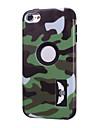 motifs de camouflage de haute qualite logiciel enfichable sur pc + silicone hybride combo cas d\'armure couverture pour ipod touch 6 (de