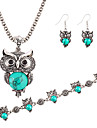 Party Birthday Engagement Gift Daily Casual Turquoise Alloy Earrings Necklaces Bracelets & Bangles