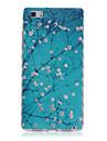 ondas padrao de flor escorregar pega TPU caso de telefone macio para Huawei P8 / p8 Lite