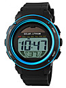 SKMEI Men\'s Digital Wrist Watch Sport Watch Alarm Calendar / date / day Chronograph Water Resistant / Water Proof Solar Sport Watch LED PU
