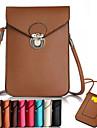 tafeta beliche sacos de telefone pu para o iPhone 6 / 6s
