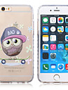 New Owl Pattern Waves Slip Handle TPU Soft Phone Case for iPhone 6 Plus/6S Plus