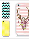 Case For iPhone 5 Apple iPhone 5 Case Pattern Back Cover Lines / Waves Hard PC for iPhone SE/5s iPhone 5
