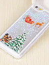 For iPhone 5 Case Flowing Liquid / Pattern Case Back Cover Case Christmas Hard PC iPhone SE/5s/5