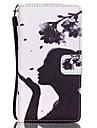 fleur fille motif pu etui en cuir pour huawei p8 lite cas / couvertures pour huawei