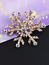 marqueterie millesime diamant Broche flocon de neige