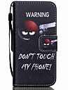 HZBYC®Do Not Touch Me Pattern PU Material Card Lanyard Case for iPhone 5C