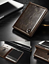 For BlackBerry Case Card Holder / with Stand / Flip Case Full Body Case Solid Color Hard Genuine Leather for BlackBerry