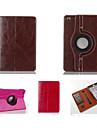 boutique de mode en cuir PU 360⁰ cas veille automatique / reveil cas de titulaire de carte pour iPad 4/3/2 (couleurs assorties)