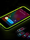 Para Capinha iPhone 5 Luz de LED Capinha Capa Traseira Capinha Cor Unica Macia TPU iPhone SE/5s/5