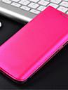 용 삼성 갤럭시 케이스 카드 홀더 / 플립 케이스 풀 바디 케이스 단색 인조 가죽 Samsung S6 edge