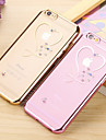 For iPhone 6 Case / iPhone 6 Plus Case Rhinestone / Plating Case Back Cover Case Heart Soft TPU iPhone 6s Plus/6 Plus / iPhone 6s/6