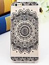 Black and White Style Mandala TPU Soft Back Cover for iPhone 6s 6 Plus