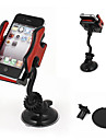 Car Windshield Mount 360 Degree Cell Phone GPS MP4 Navigation Holder Black Red