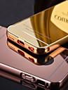 cadre de luxe en metal chrome ajoute acrylique transparent etui couverture de telephone pour iPhone 5c (couleurs assorties)