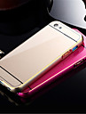 Luxury Ultrathin Alloy  Bumper Curved Golden Edge Metal Adds Acrylic Smooth Surface Full Body Case Cover for iPhone 5C