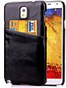 Для Samsung Galaxy Note Бумажник для карт Кейс для Задняя крышка Кейс для Один цвет Искусственная кожа Samsung Note 5 / Note 4 / Note 3