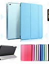Case For Apple iPad Mini 4 iPad Mini 3/2/1 iPad 4/3/2 iPad Air 2 iPad Air with Stand Auto Sleep / Wake Origami Full Body Cases Solid Color