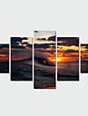 Наборы холстов Пейзаж Modern Традиционный,5 панелей Горизонтальная С картинкой Декор стены For Украшение дома