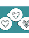 Swirl Valentine Heart Stencil, Cookie Stencil,Stencil for cake decorating,Free shipping stencil ST-685