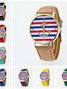 Жен. Модные часы Кварцевый PU Группа Черный Белый Синий Красный Оранжевый Коричневый Зеленый Розовый Фиолетовый Желтый Хаки Роуз