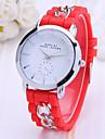 Women\'s Ladies Wrist Watch Quartz Hot Sale Plastic Band Analog Charm Fashion Dress Watch Black / White / Blue - Red Pink Light Blue