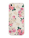 Capinha Para iPhone 5 Apple Capinha iPhone 5 Estampada Capa traseira Flor Macia TPU para iPhone SE/5s iPhone 5