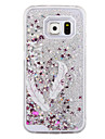 The Swallow Feathers Pattern Sparkle Stars Quicksand Liquid PC Hard Phone Case for Samsung Galaxy S4/S5/S6/S6 Edge