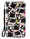 Little Cat Painted PU Phone Case for Samsung Galaxy A3(2016)/A5(2016)/A7(2016)