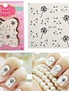 1 Water Transfer Sticker 3D Nail Stickers Abstract Cartoon Fashion Daily High Quality