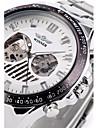 WINNER® Men\'s Hollow Skeleton Mechanical Steel Band Wrist Watch Cool Watch Unique Watch