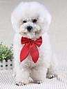 Chien Cravate/Noeud Papillon Vetements pour Chien Mignon Mariage Noeud papillon Noir Rouge Vin Costume Pour les animaux domestiques