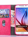 Case Kompatibilitás Samsung Galaxy Samsung Galaxy S7 Edge Kártyatartó Pénztárca Állvánnyal Flip Héjtok Tömör szín PU bőr mert S7 edge S7