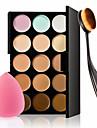 15 Correcteur/ContourHouppette/Eponge Pinceaux de Maquillage Humide VisageCouverture Blanchiment Longue Duree Correcteur Tonalite Inegale
