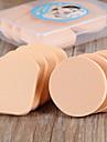8 pcs Powder Puff Natural Sponges Round Quadrate Liquid Cream Powder