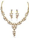 Femme Set de Bijoux Mode bijoux de fantaisie Perle Boucles d\'oreille Collier Pour Soiree Occasion speciale Anniversaire Cadeaux de mariage