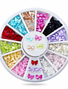 Joias de Unhas-Adoravel- paraDedo- deAcrilico- com1whee butterfly nail decorations-6cm wheel- (cm)