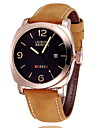 CURREN® Men's Military Watch Japanese Quartz Leather Strap Cool Watch Unique Watch Fashion Wrist Watch