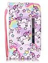Для Кейс для  Samsung Galaxy Бумажник для карт / Кошелек / со стендом / Флип Кейс для Чехол Кейс для Животный принт Искусственная кожа
