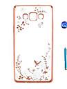 Кейс для Назначение SSamsung Galaxy Стразы Покрытие Прозрачный С узором Кейс на заднюю панель Цветы Твердый ТПУ для A9 A8 A7 A5